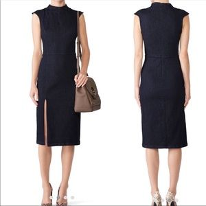 ALEXIA ADMOR Stretch Denim Slit Sheath Dress